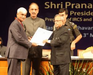 St. John Gold Medal Award by President of India Shri Pranab Mukherji for the year 2012.